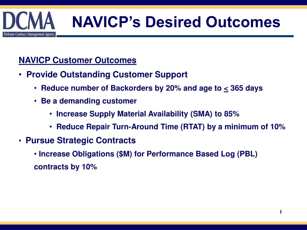 NAVICP's Desired Outcomes