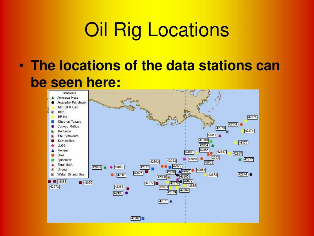 Oil Rig Locations