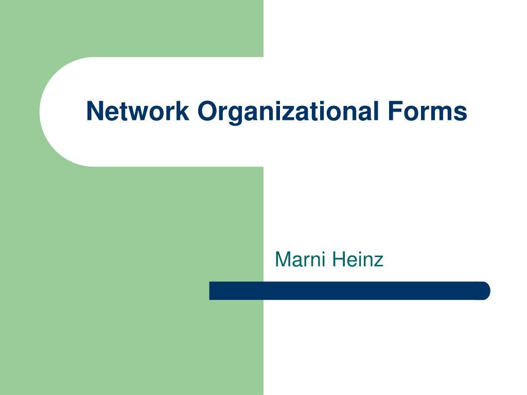 Network Organizational Forms