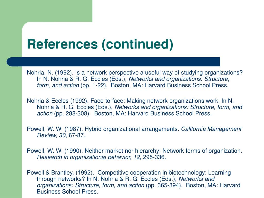 References (continued)