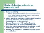 study collective action in an electronic nop