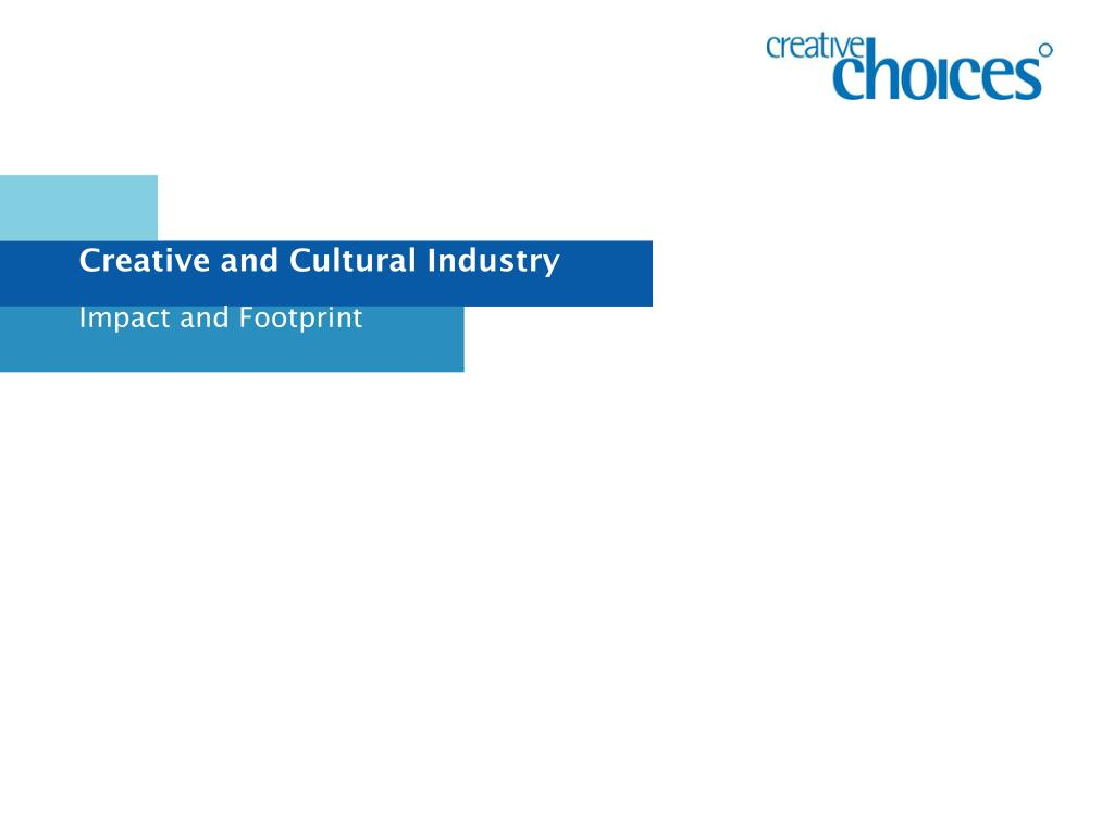 creative and cultural industry