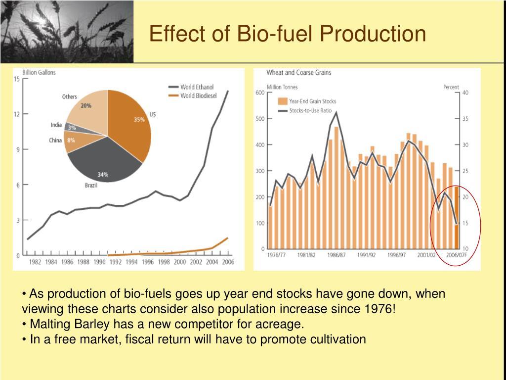 Effect of Bio-fuel Production