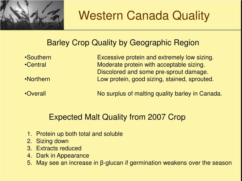 Western Canada Quality
