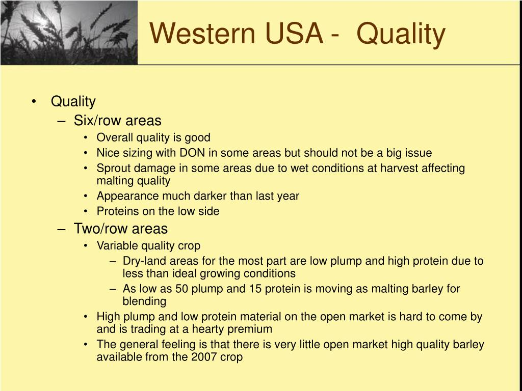Western USA -  Quality