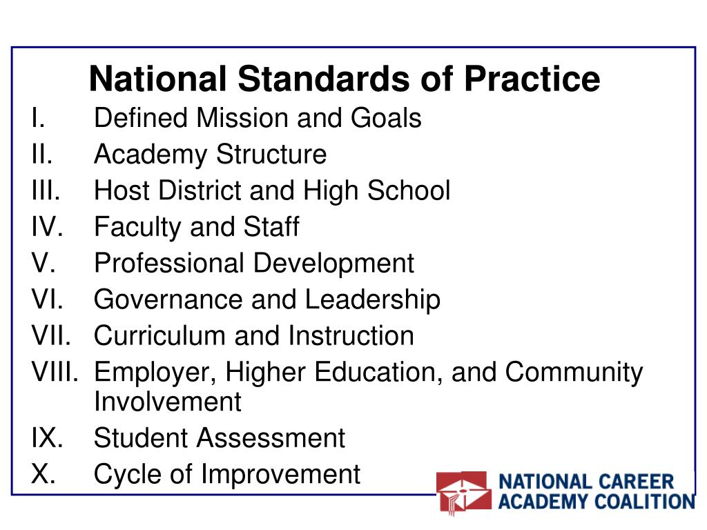 National Standards of Practice