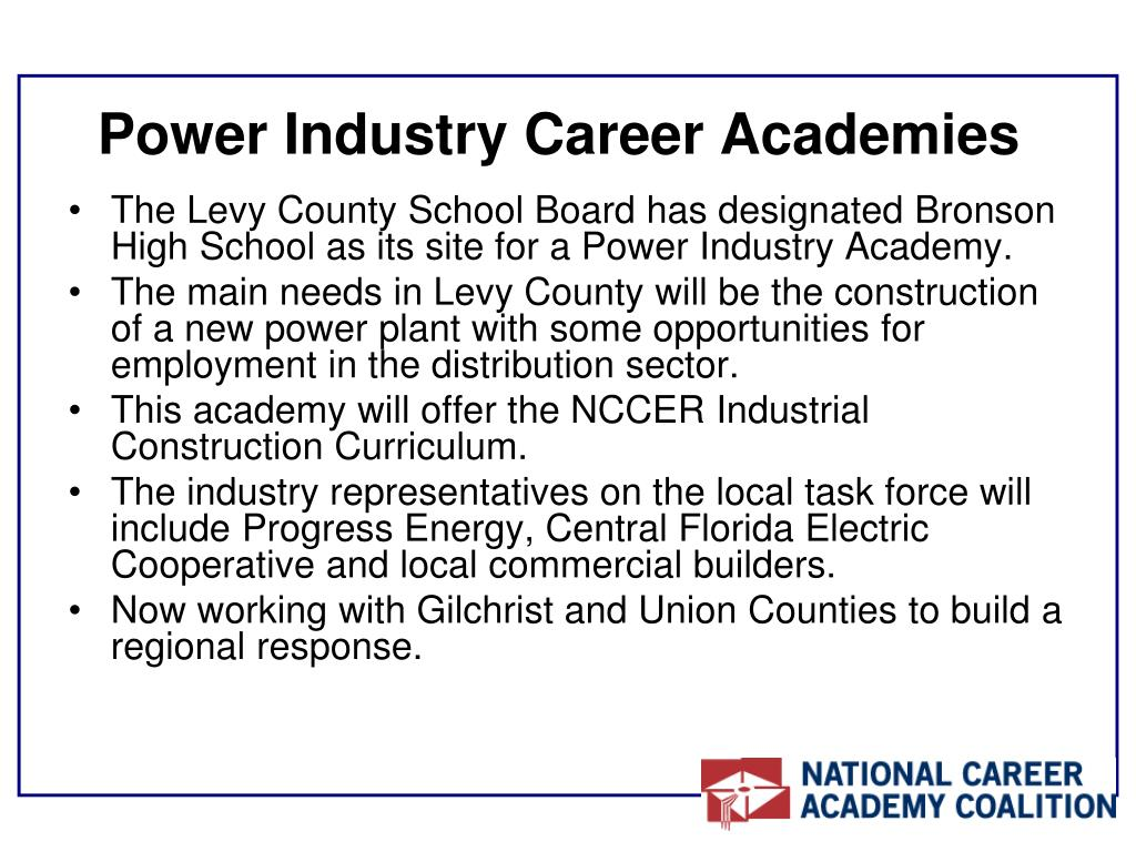 Power Industry Career Academies