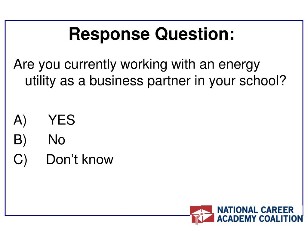 Response Question:
