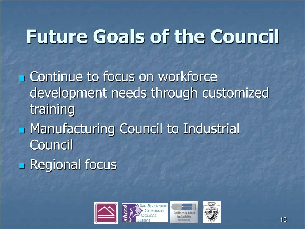 Future Goals of the Council