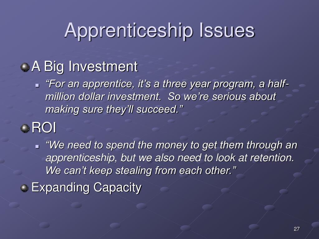 Apprenticeship Issues