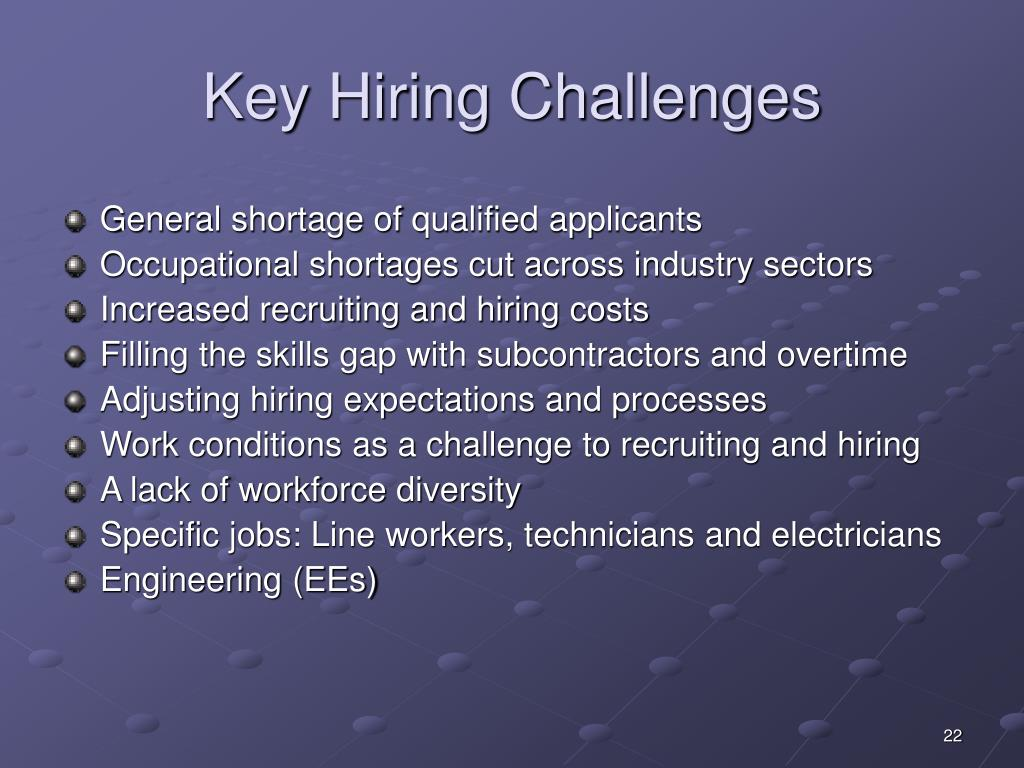 Key Hiring Challenges