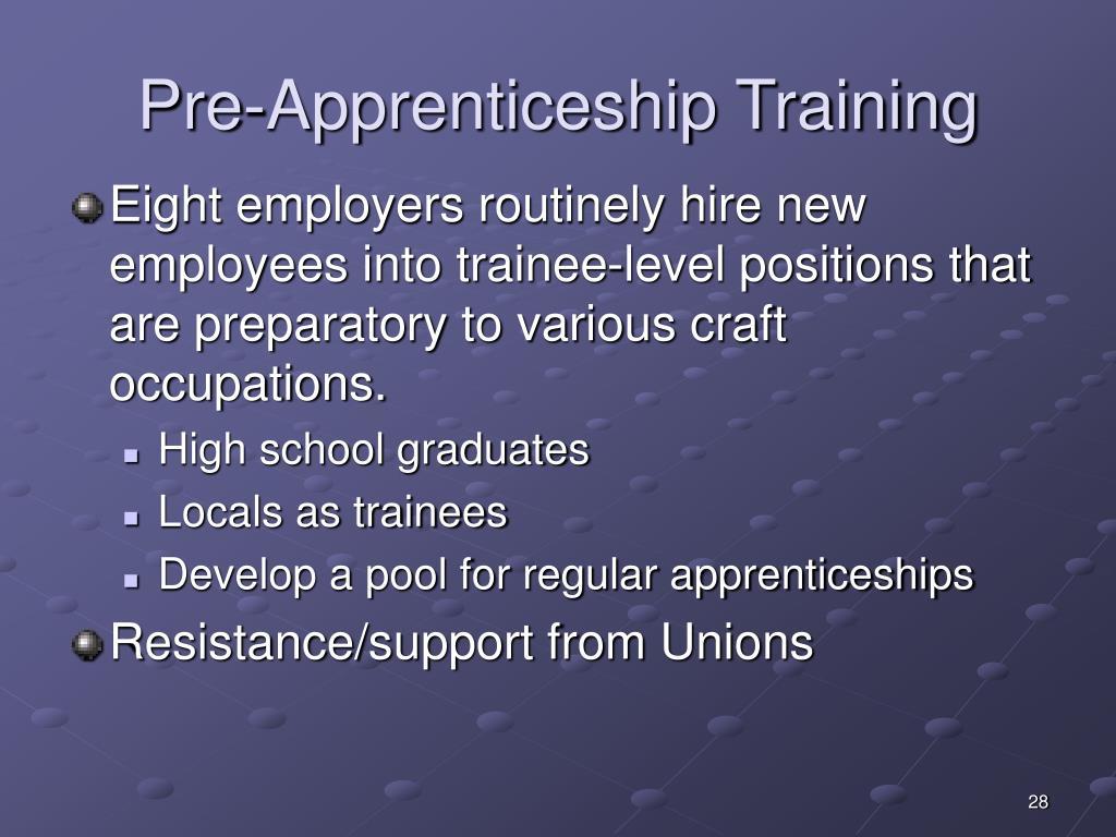 Pre-Apprenticeship Training