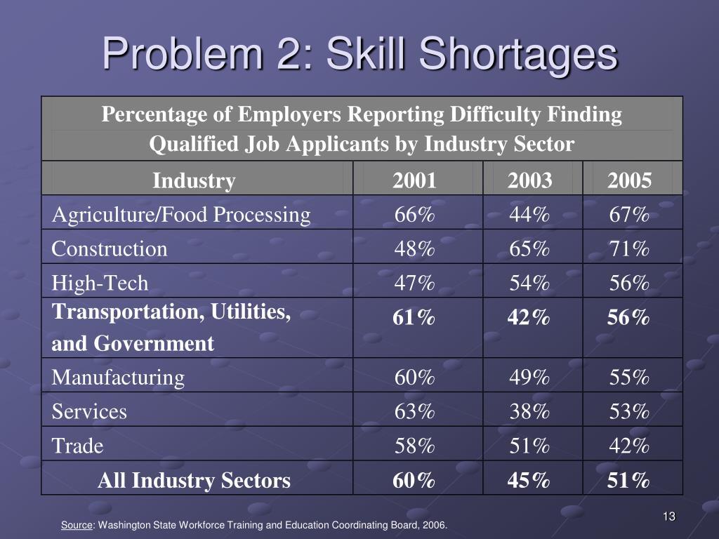 Problem 2: Skill Shortages