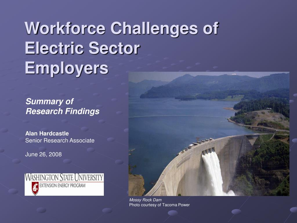 Workforce Challenges of Electric Sector