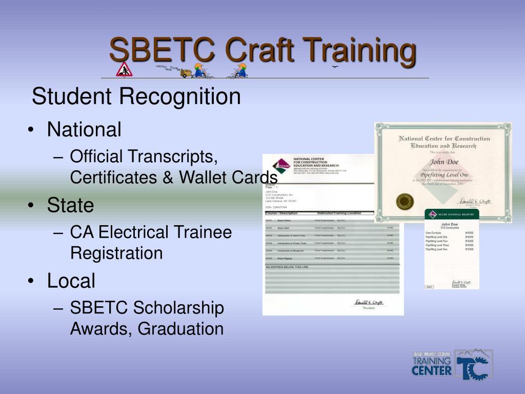 SBETC Craft Training