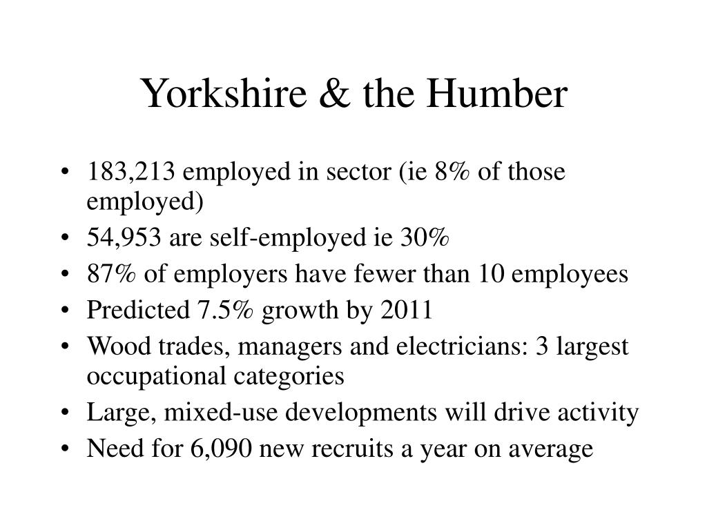 Yorkshire & the Humber