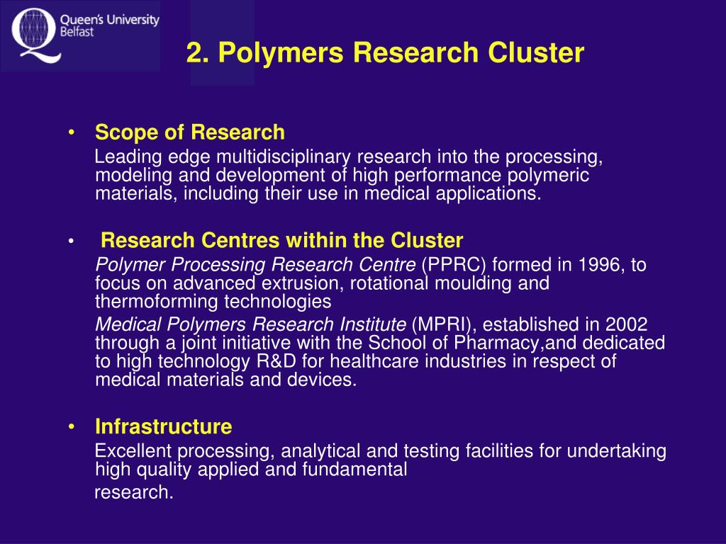 2. Polymers Research Cluster