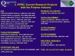 5 pprc current research projects with the polymer industry