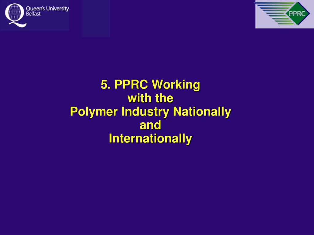 5. PPRC Working