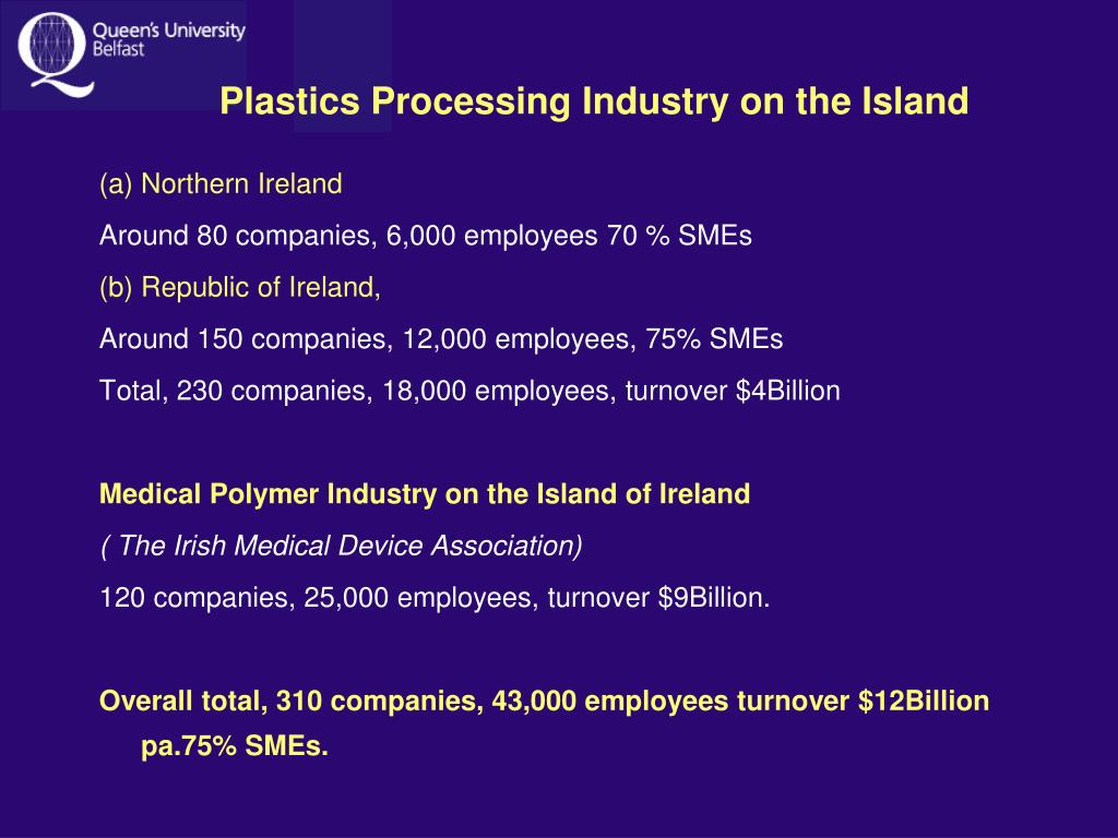 Plastics Processing Industry on the Island