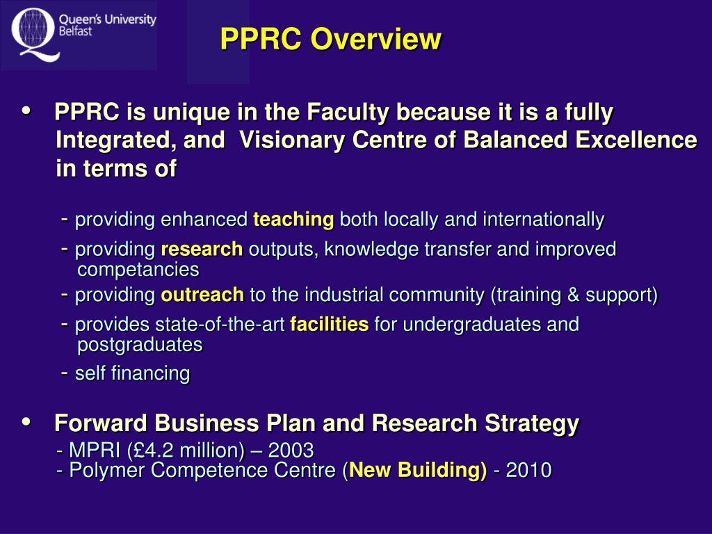 PPRC Overview