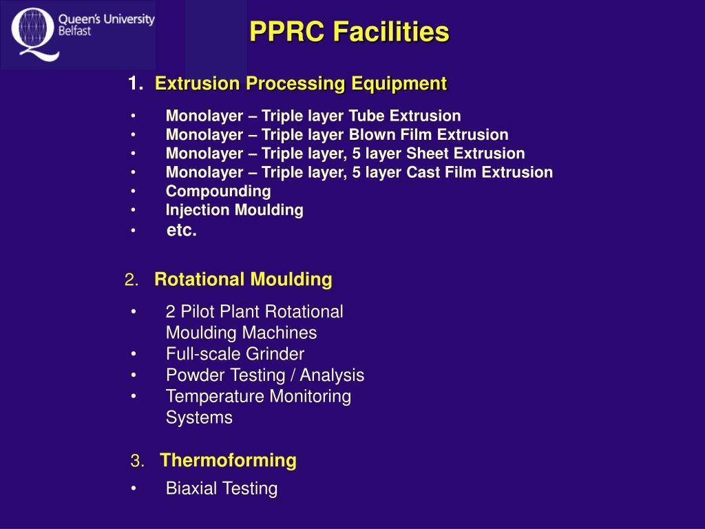 PPRC Facilities