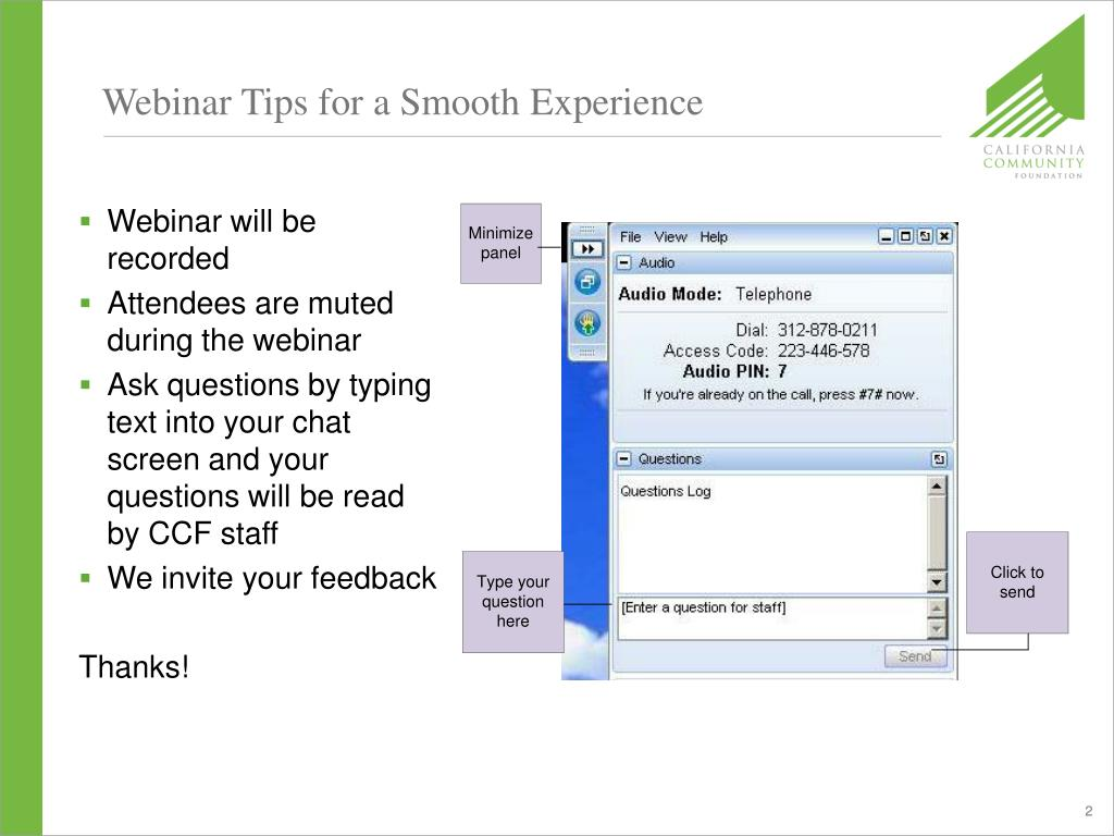 Webinar Tips for a Smooth Experience