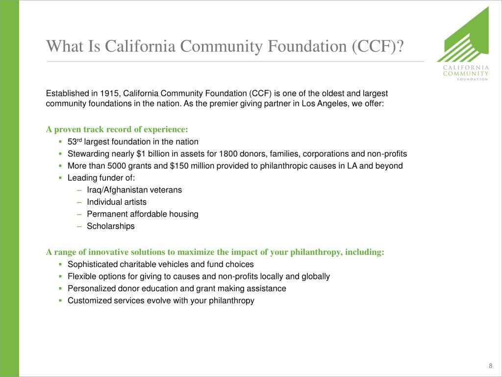 What Is California Community Foundation (CCF)?