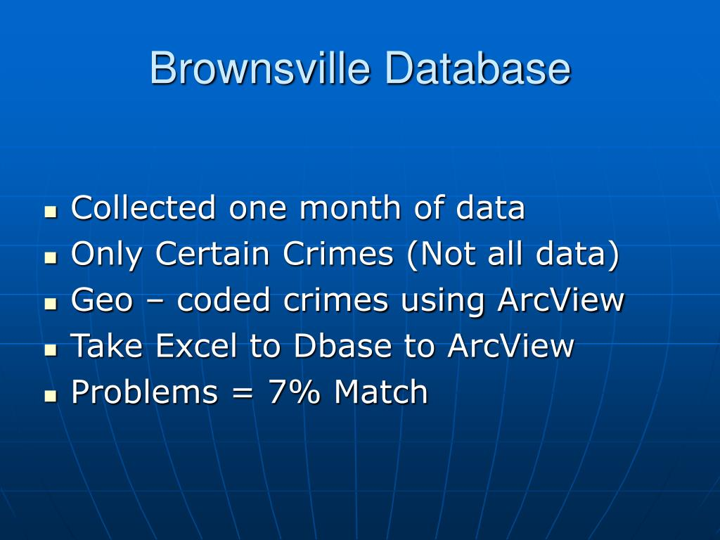 Brownsville Database