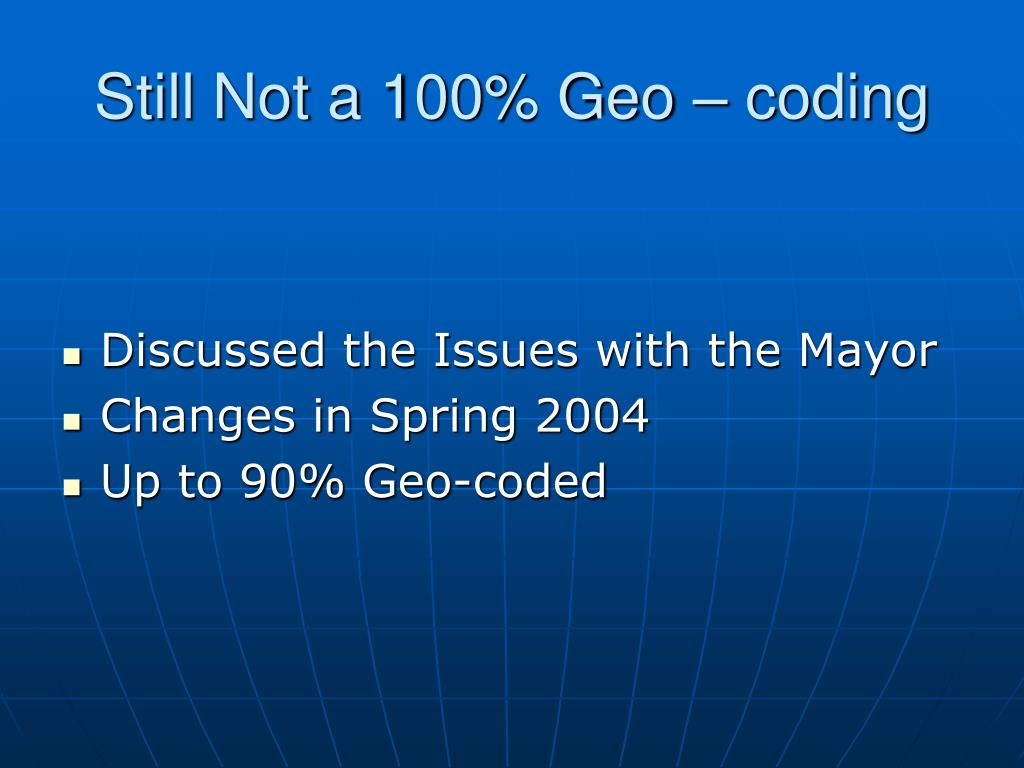 Still Not a 100% Geo – coding