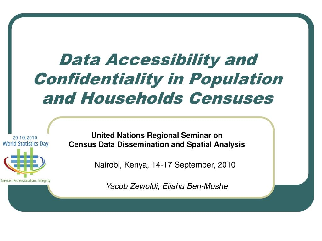 data accessibility and confidentiality in population and households censuses