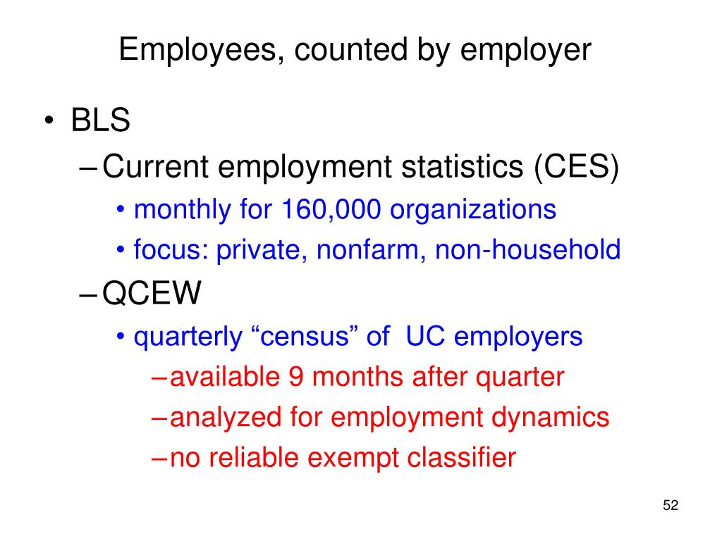 Employees, counted by employer