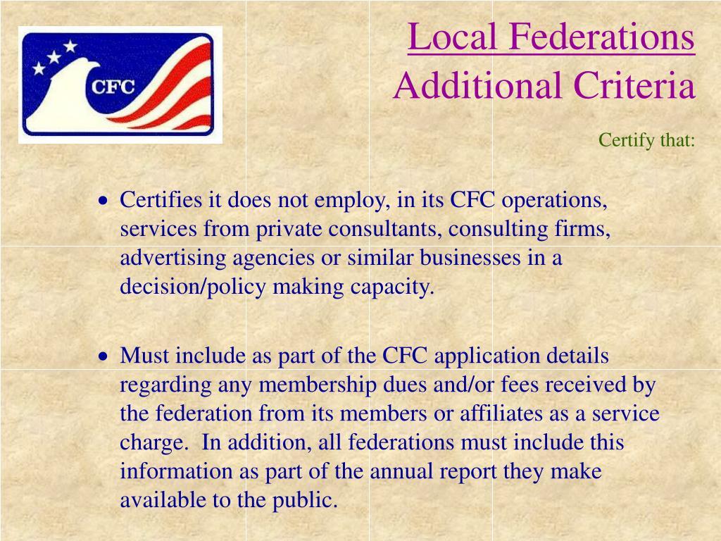 Local Federations