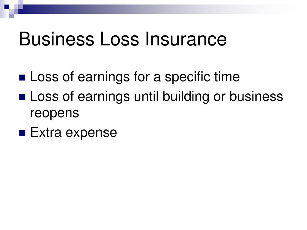 Business Loss Insurance