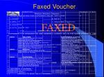 faxed voucher