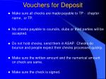 vouchers for deposit