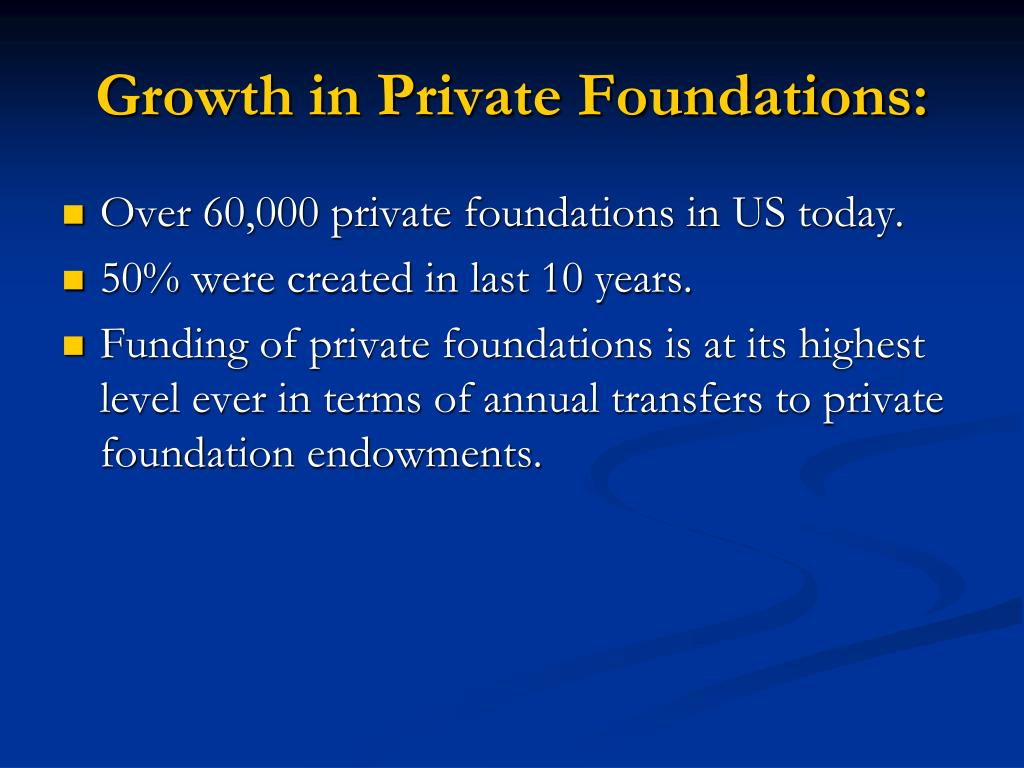 Growth in Private Foundations: