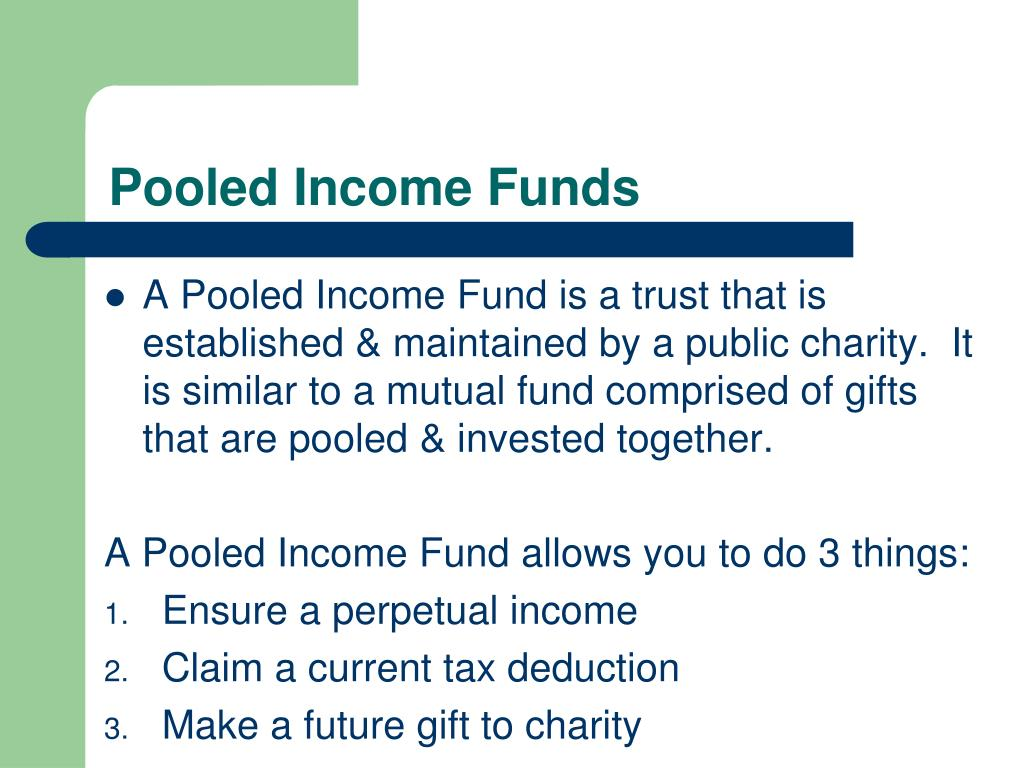 Pooled Income Funds