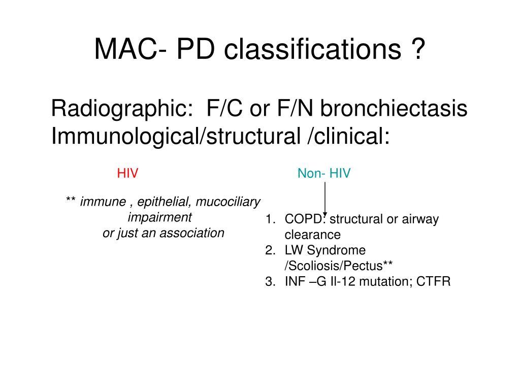 MAC- PD classifications ?