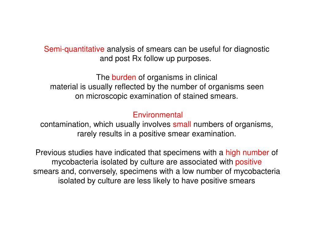 Semi-quantitative