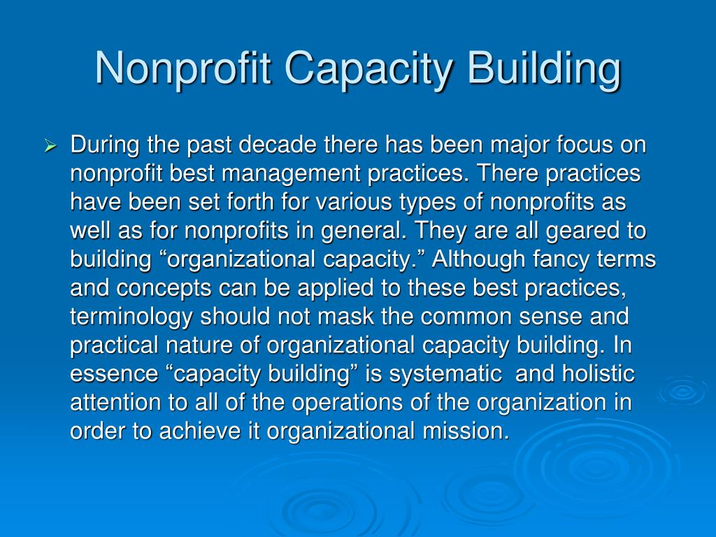 Nonprofit Capacity Building