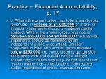 practice financial accountability p 1739