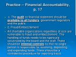 practice financial accountability p 1740
