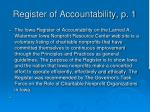 register of accountability p 1