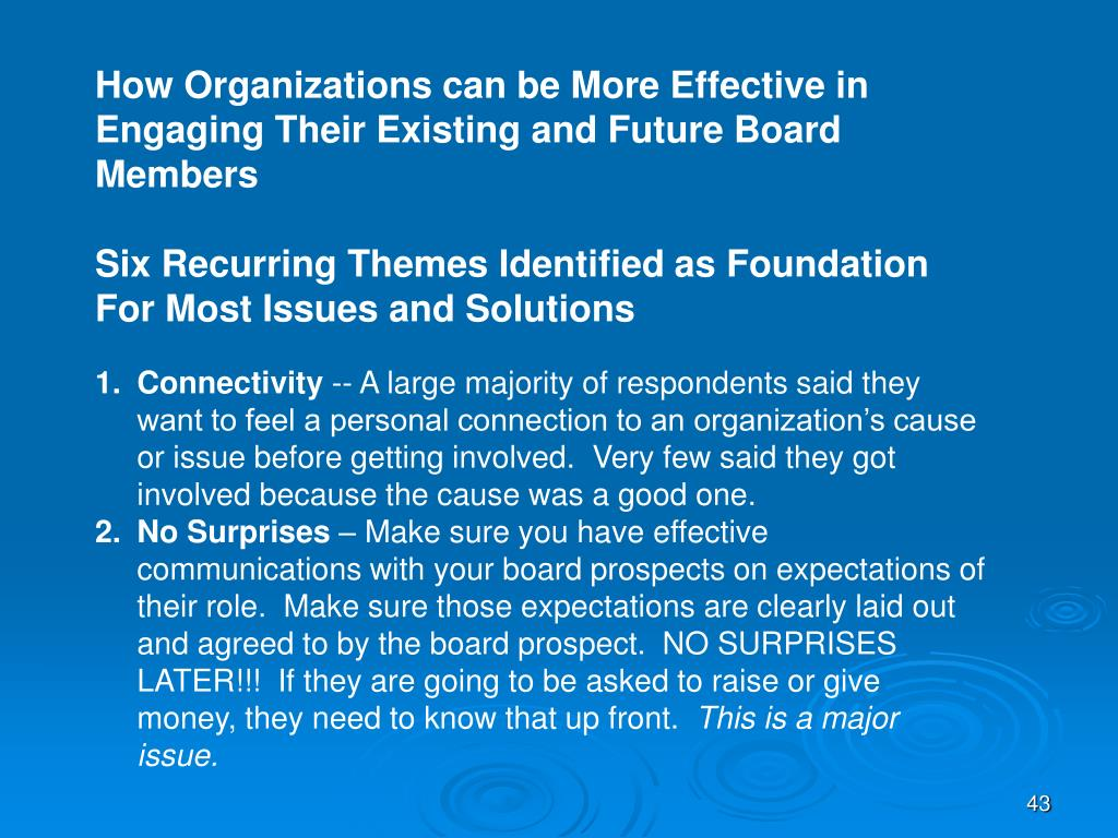 How Organizations can be More Effective in Engaging Their Existing and Future Board Members