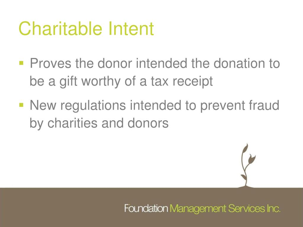 Charitable Intent