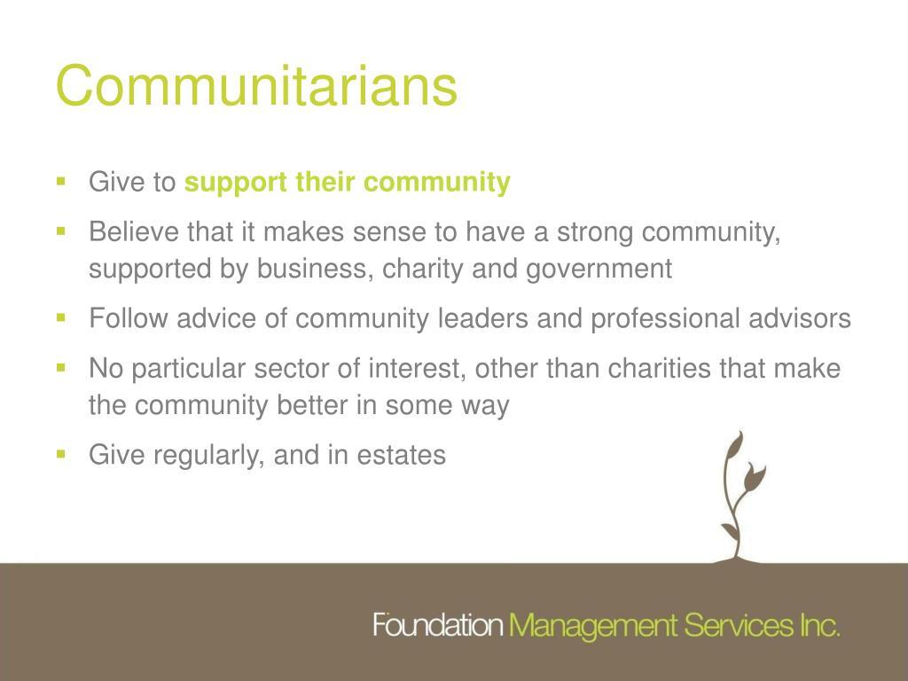Communitarians