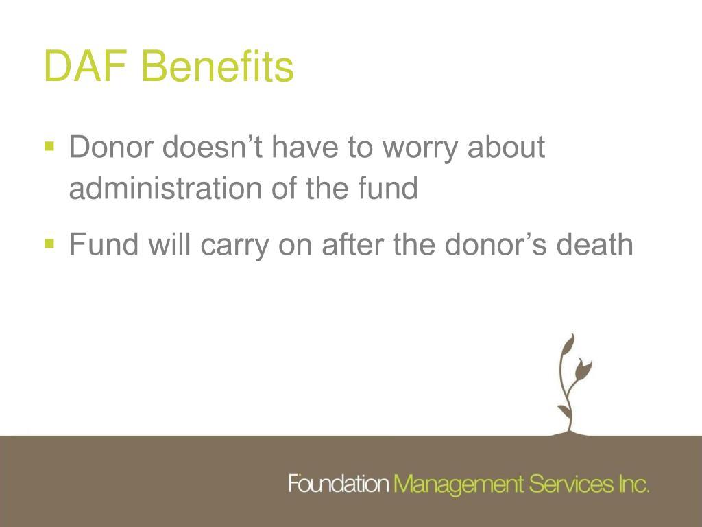 DAF Benefits