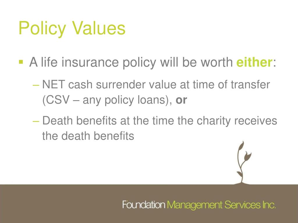 Policy Values