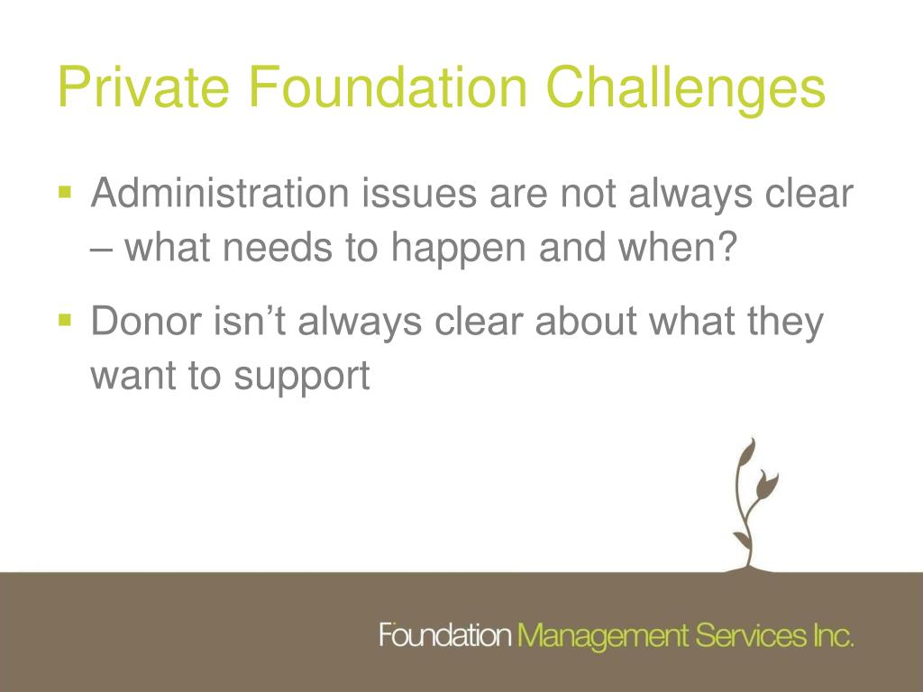 Private Foundation Challenges